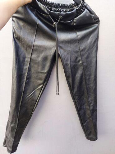 Crne kozne pantalone  Nove ni jednom nosene