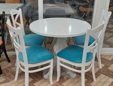 Masaların və oturacaqlarin satışı.Materal meşə ağacı üstü MDFReng