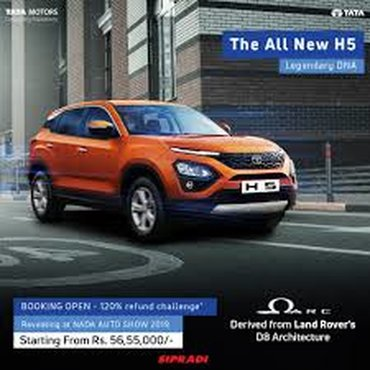 Discover more about Tata Harrier 2019, the five seater compact SUV -