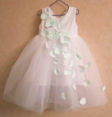 Эксклюзивное платье на девочку 3-5 лет. Ручная работа. Украшено оригин в Бишкек