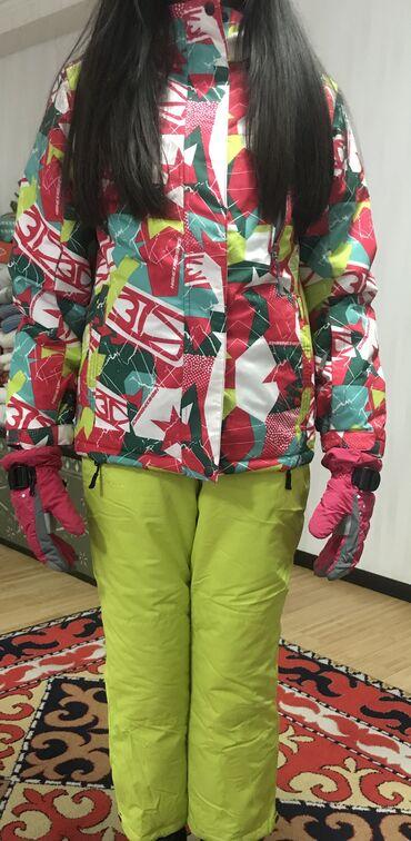 Детские леггинсы на флисе - Кыргызстан: Детский Горнолыжный костюм, состояние новое надевали 1 раз.  Хотим п