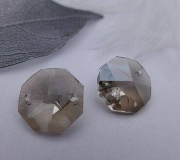 люстры для зала бишкек цены в Кыргызстан: Хрусталики для люстры восьмиугольные - диаметр 14 ммстеклянные