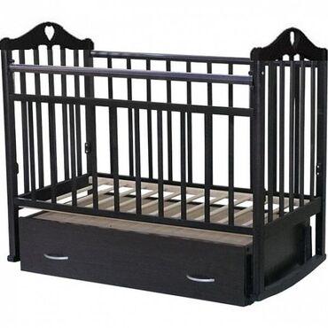 Кроватка Каролина с маятником вместе с матрасиком Нижний выдвижной