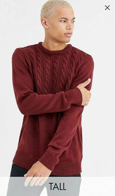 bdm club платья в Кыргызстан: Бордовый свитер с отделкой узором в косичку Another Influence - Tall
