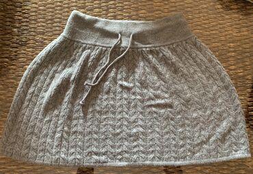 Siva suknja - Srbija: H&M Siva suknja, zimska vunena, bez ikakvog ostecenja, par puta