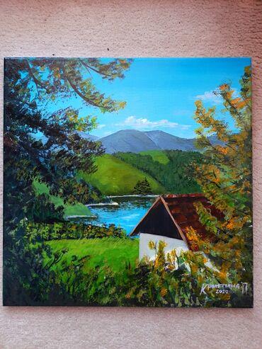 Kućni dekor - Sabac: Umetnicka slika Dimenzije: 40cm ×40 cm Akril na platnu