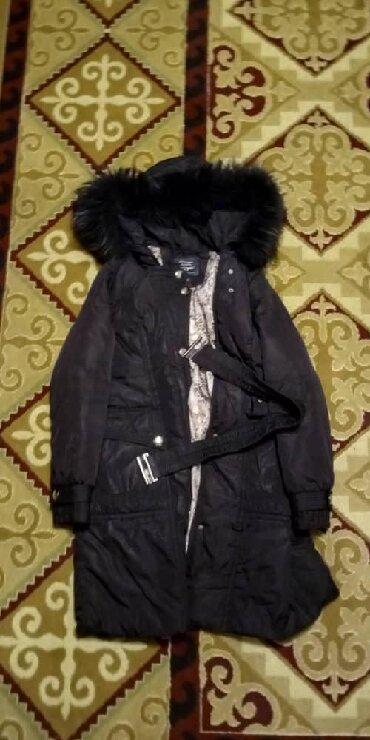 фабричные в Кыргызстан: Куртка зимняя, фабричная с натуральным мехом на воротнике