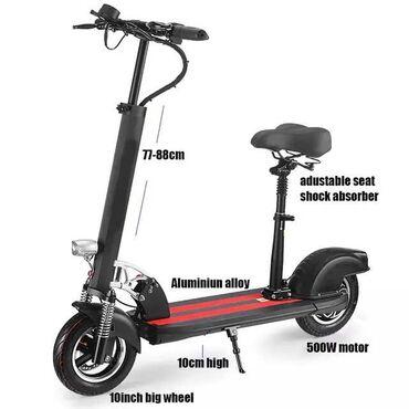 Motosiklet və mopedlər Azərbaycanda: Elektrikli moto scooter oturacaqlıÇəkidən asılı olaraq 10-40km məsafə