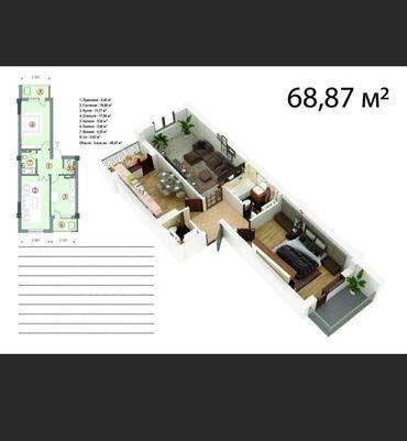 авто рассрочка ош in Кыргызстан | АВТОЗАПЧАСТИ: Элитка, 2 комнаты, 68 кв. м Без мебели