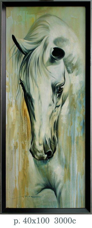 картины картины лошади холст. масло продам и принемаю заказы в Бишкек