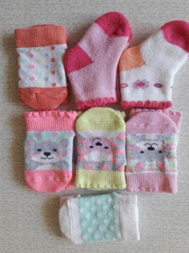 Носочки на новорожденных 1пара= 10 сом 2 пары=15 сом, пр-во Турция
