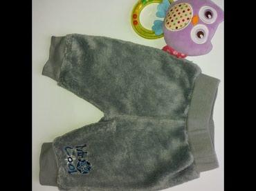 Ergee čupave pantalone vel.62. Kao nove, mekane, od polara. Tamno - Pancevo