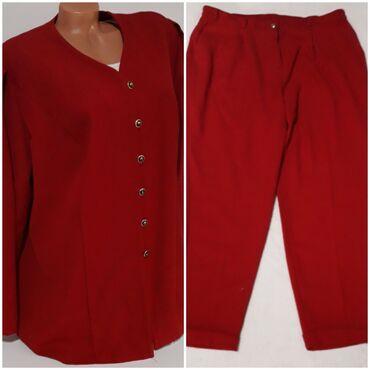 Pantalone cm - Srbija: TREVIRA crveni komplet vel 48-50 Odličan crveni komplet,vel piše 50 mo