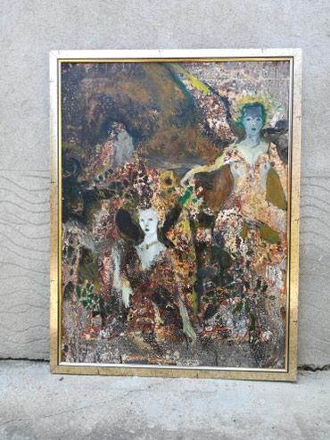 Prodaja slika. Tehnika kombinovana na kartonu. Dimenzije 100 x70 cm. - Leskovac