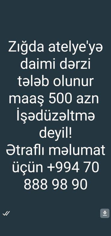 muhafize isi elanlari 2019 - Azərbaycan: Dərzi işi