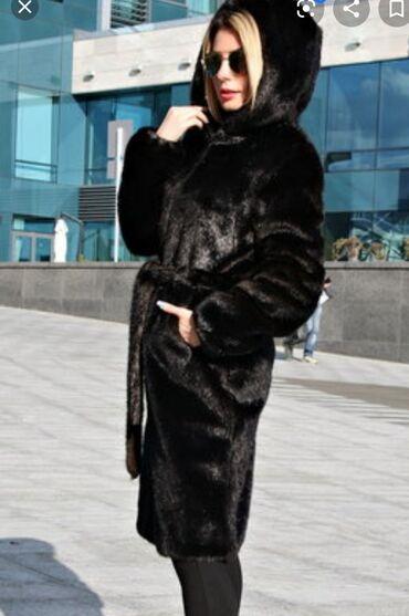 уступки будет в Кыргызстан: Продаю красивую шубу норка 46-48 размер. Черный брильянт. С капюшоном