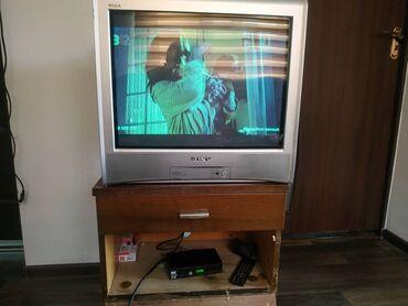 Продаётся телевизор+ресивер с тумбочкой. Все в хорошем рабочем