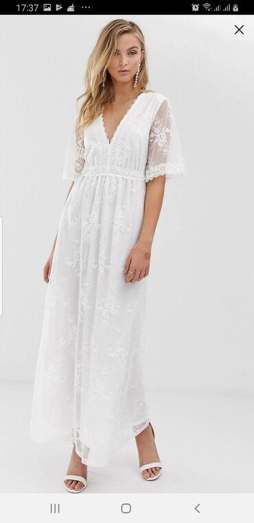 zhenskie-dzhinsovye-yubki-na-pugovitsakh в Азербайджан: Свадебное платье. Было заказано на ASOS. Покупалось для фотосессии