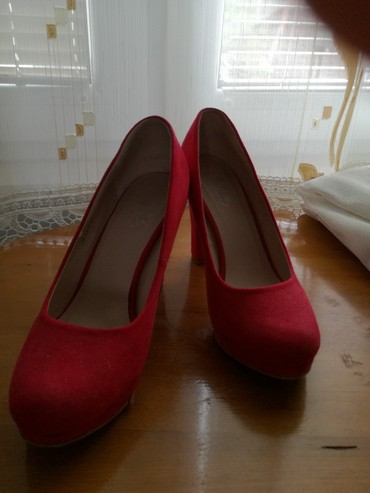Crvene prelepe cipele, nosene 2X, broj 39 Kontakt putem lalafoa - Belgrade