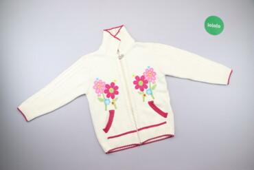 Другие детские вещи - Белый - Киев: Дитяча кофтинка з квітками Podyum, вік 8 р., зріст 128 см    Довжина