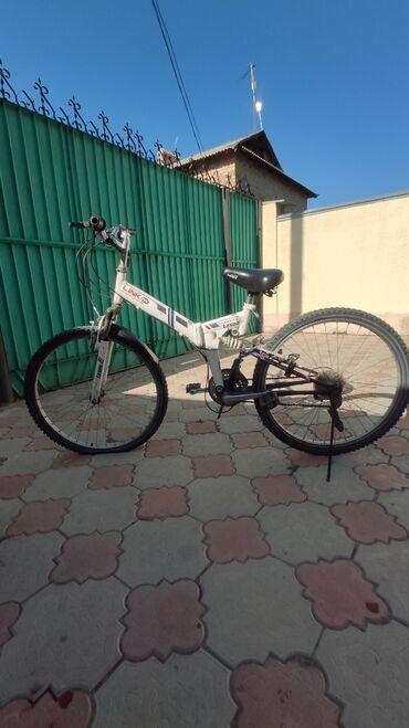Спорт и хобби - Арчалы: Корейский велосипед. Б/у.26 колеса, складной, двухподвесной, 21