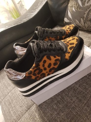 Ženska obuća | Vrsac: Preudobne, tigraste patike Probane samo jednom,  Malo su mi vece zato