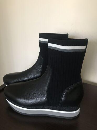 Итальянские ботинки кожаные новые, 39 размер, цена 6000сом