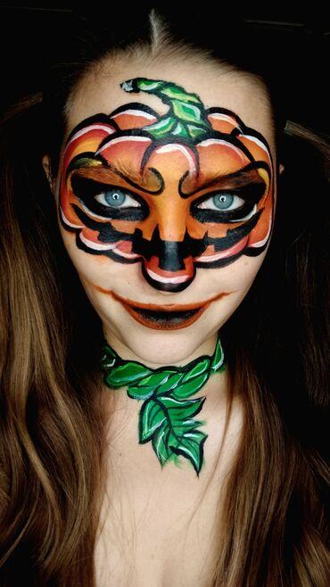 аквагрим бишкек in Кыргызстан | ЖҮК ТАШУУ: Страшно красивый аквгарим на Хэллоуин! Опыт работы более 6 лет!-