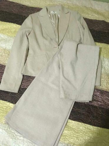 мужские черные брюки в Кыргызстан: Женский костюм размер 42 посадка брюк высокая