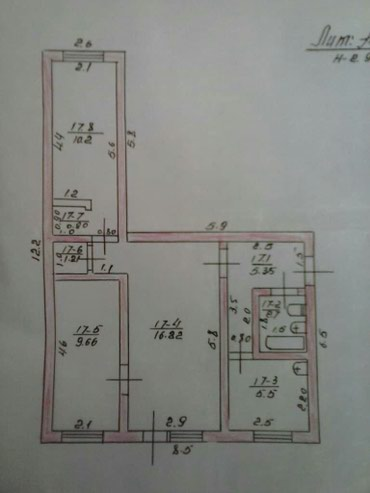 Продаю 3х комн.кв. в г.Балыкчи,по в Бишкек