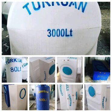 Türksan şirkətinin poleitilendən hazırlanmış su çənləri. Içməli,Izolya