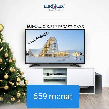 led lampalar - Azərbaycan: Televizor Eurolux Led 50ATSDN4SEkranın ölçüsü 127 sm Smart Full