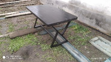 стол большой для дома в Кыргызстан: Продаю столы (метал+дерево) Есть в наличии:1900*900-8шт 1500*800-4шт