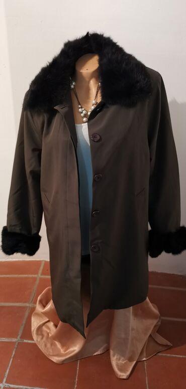 Nova Fendi made in Italy zimska jakna 2XL luksuzna,prirodno krzno cena