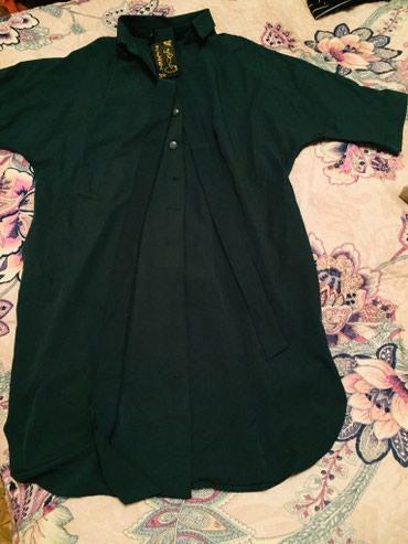 зеленые шузы в Кыргызстан: Продаю платье новое, размер 56, цвет темно-зеленый, ткань бенгалин