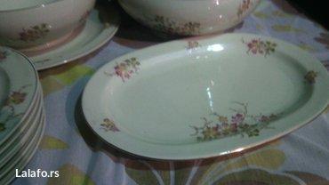 Prelepi porcelanski set, za ručavanje..  Set čine dve činije za čorbic - Cuprija - slika 2