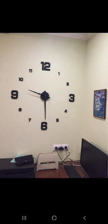 chernyj great wall в Кыргызстан: Настенные 3d часы премиум класса!!! Премиум класса!!! Самоклеющиеся. В