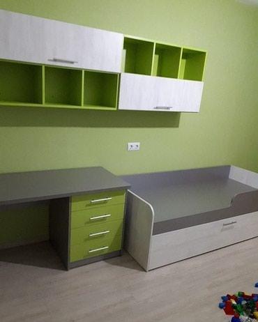 Другие кровати в Кыргызстан: Кровать + письменный стол + Шкаф