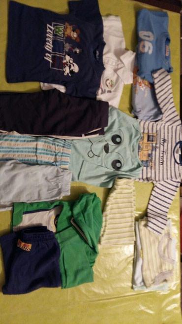 Paket odece za dečake od godinu dana,vel.80,86,12meseci 2majice na - Petrovac na Mlavi