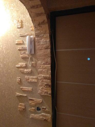 Настил линолеума,напольный плинтус, отделка декоративным камнем в Бишкек