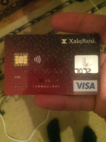 Bakı şəhərində Salam bu hesab karti itirilibdi. Kimindirse zehmet olmasa elaqe