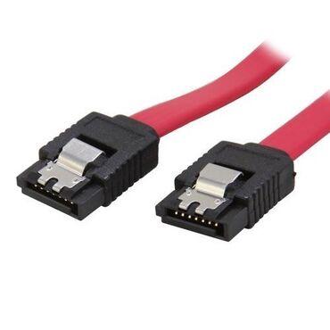 кабели и переходники для серверов minisas sata в Кыргызстан: Кабель SATA (прямой) - SATA (прямой) плоский, красный, с