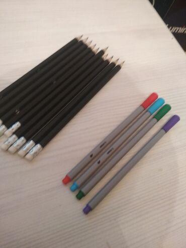 Профессиональные карандаши и фломастеры для рисования. Масловые, не ис