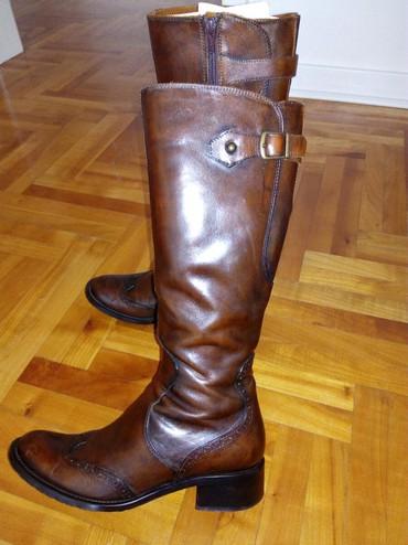 Italijanske cizme br - Srbija: Cizme zenske italijanske,braon prirodna koza izvana I unutra,velicina