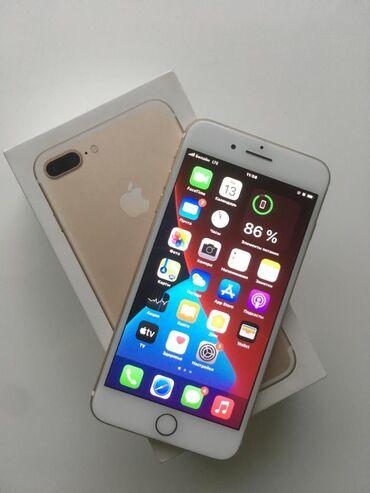 айфон 7 цена in Кыргызстан   APPLE IPHONE: IPhone 7 Plus   128 ГБ   Золотой Б/У