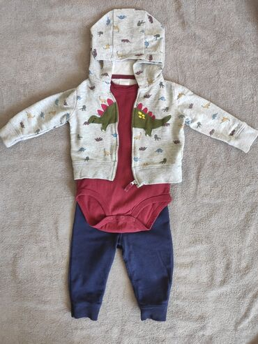джинсовый костюм детский в Кыргызстан: Продаю б/у детские вещи на мальчика до 9мес. Описание и цена вещей в