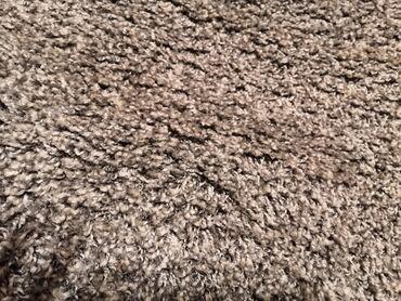 Kućni dekor - Sabac: Sivi melirani čupavi shegi 1.7x1.2m.Saljem brzom postom