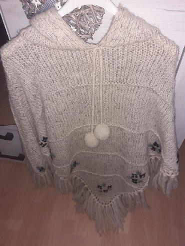 Ponco-vuna-akril - Srbija: Ponco rucno radjen prava vuna