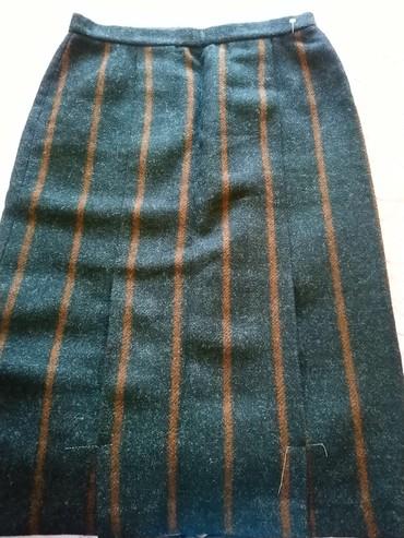 Зимняя шерстяная юбка, размер 50-52