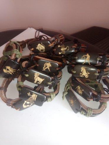 """браслеты ручной работы. браслет из кожи и дерева """"знаки зодиака"""" – в Бишкек"""